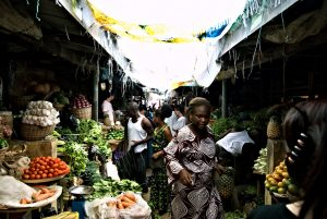 Lekki Market in Lagos, Nigeria. CC BY 2.0, uploaded by shawnleishman.